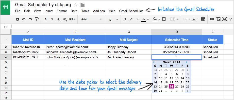 Gmail Scheduler
