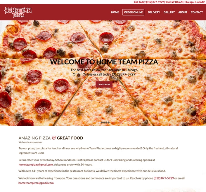 Website Design 11 work 0010 home team pizza